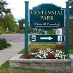 Centennial Park Sign
